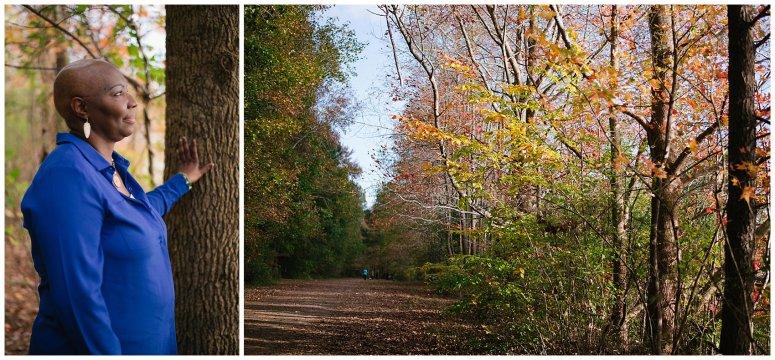 Cancer Fighter Portraits Oak Grove Park Chesapeake Virginia Photographers