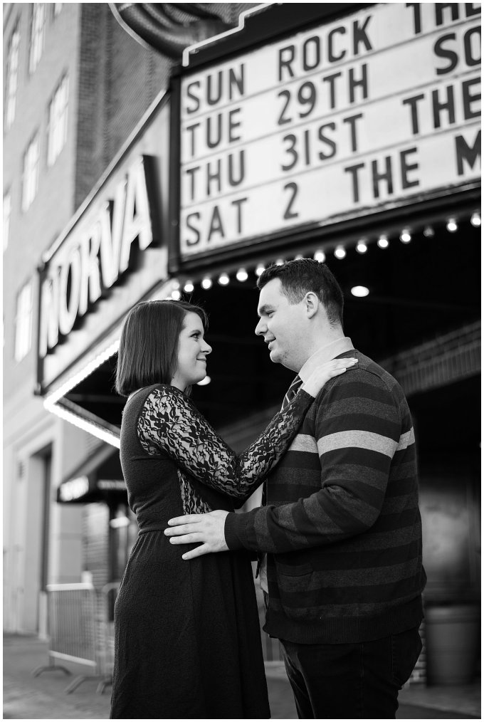 Downtown Norfolk, Virginia Winter Engagement Session at the NorVa