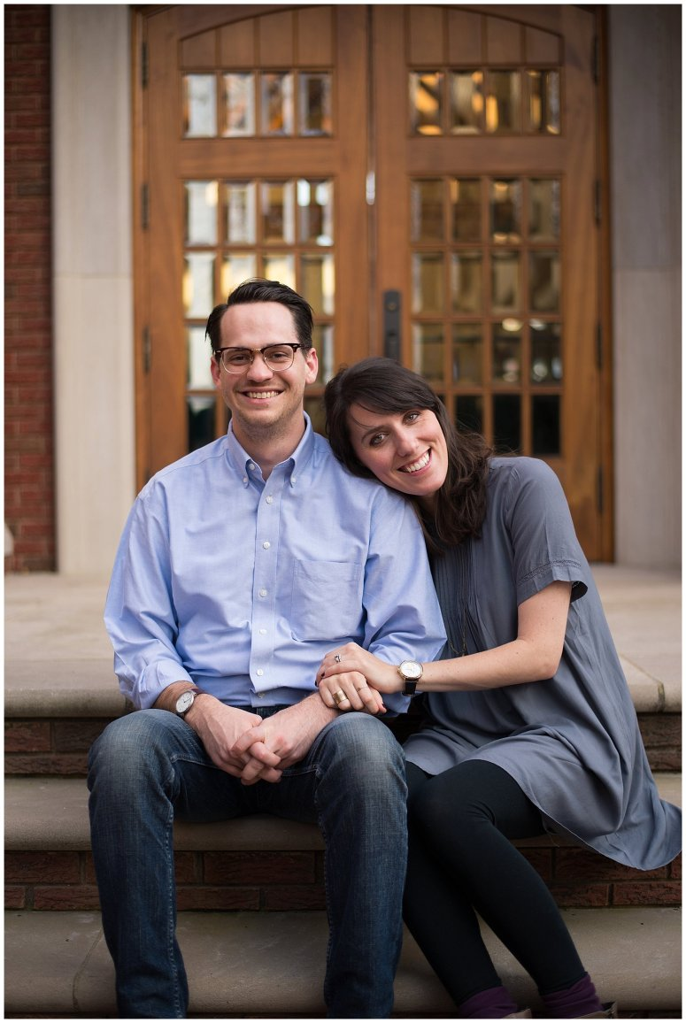 Downtown Suffolk Virginia Couple Portrait Session