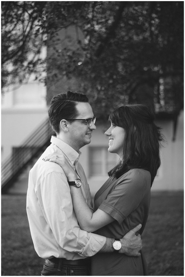 Cultural Arts Center of Suffolk Virginia Black and White Couple Portrait
