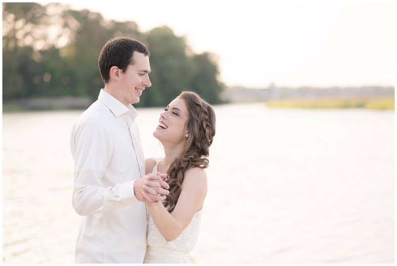 Golden Hour Sunset Couple Session at Windsor Castle Park Smithfield Virginia_0892