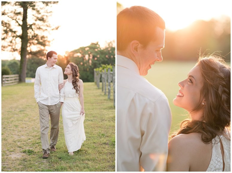 Golden Hour Sunset Couple Session at Windsor Castle Park Smithfield Virginia_0911