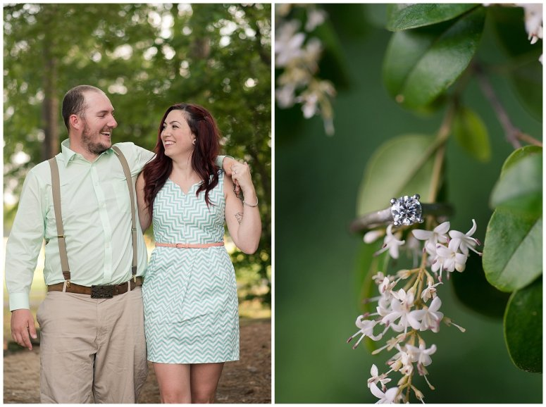 Spring Chesapeake Virginia Engagement Session Locks Park in Great Bridge_0827