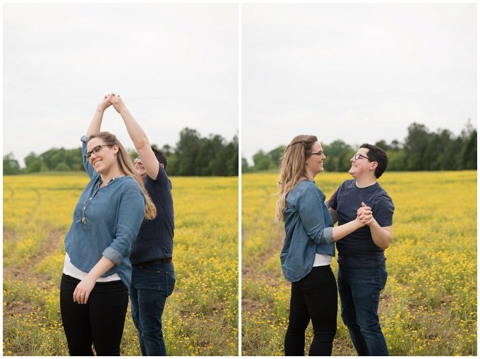 Yellow Field Suffolk Virginia Engagement Session_0609