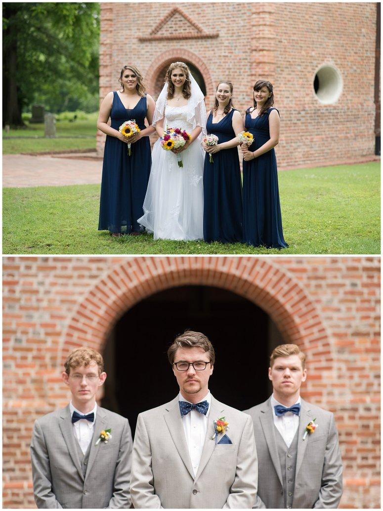 Historic St Lukes Church Smithfield Virginia Wedding Photographers_0931