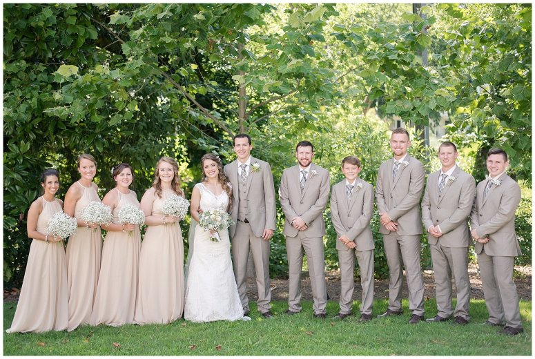 Beautiful Neutral Cream Wedding Womens Club of Portsmouth Virginia Wedding Photographers_1576
