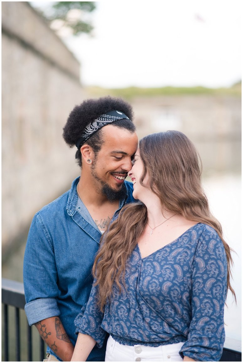 Fort Monroe Virginia Sunset Engagement Session Virignia Wedding Photographers_1293