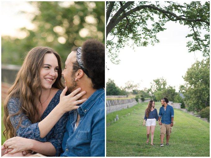 Fort Monroe Virginia Sunset Engagement Session Virignia Wedding Photographers_1299