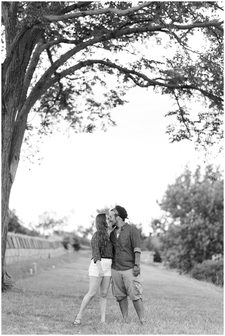 Fort Monroe Virginia Sunset Engagement Session Virignia Wedding Photographers_1302