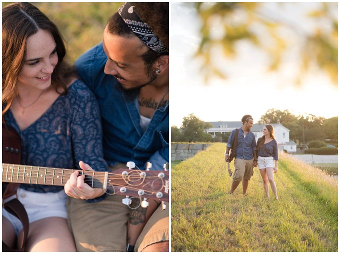 Fort Monroe Virginia Sunset Engagement Session Virignia Wedding Photographers_1323