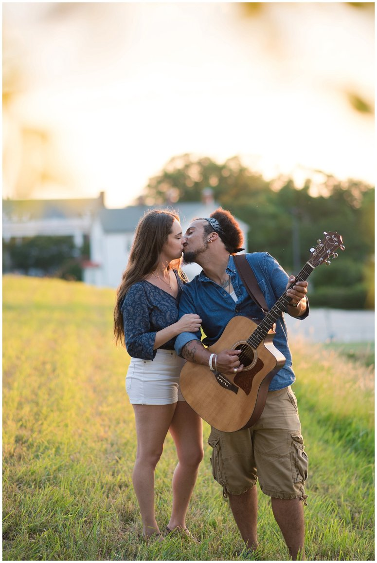 Fort Monroe Virginia Sunset Engagement Session Virignia Wedding Photographers_1325