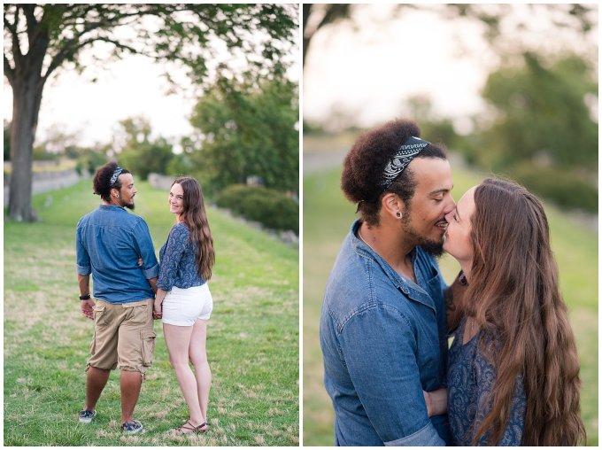 Fort Monroe Virginia Sunset Engagement Session Virignia Wedding Photographers_1332