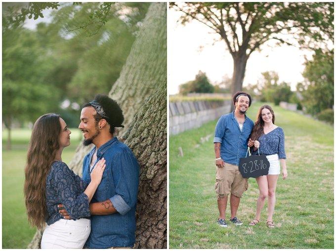 Fort Monroe Virginia Sunset Engagement Session Virignia Wedding Photographers_1341