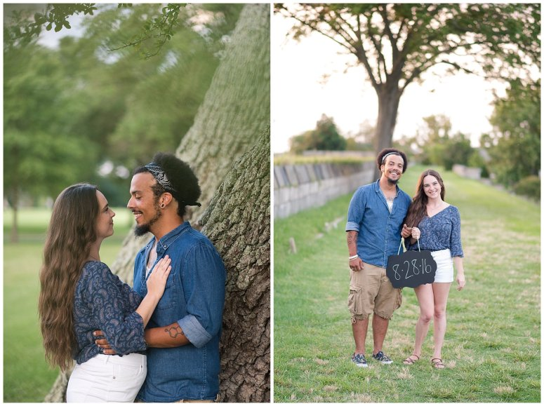 Fort Monroe Virginia Sunset Engagement Session Virignia Wedding Photographers_1341