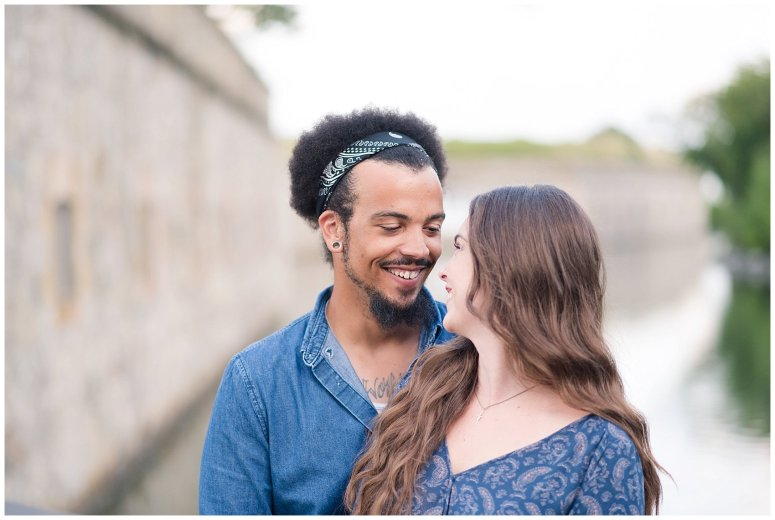 Fort Monroe Virginia Sunset Engagement Session Virignia Wedding Photographers_1342