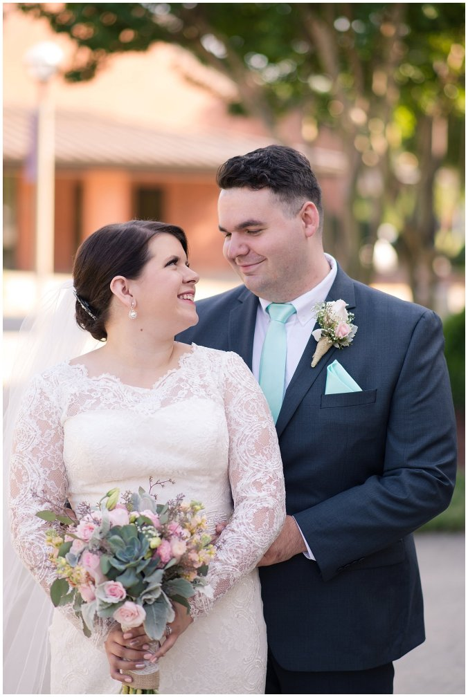Hampton Virginia Wedding Photographer Pale Pink Blue Succulents Beautiful Virginia Wedding_1239