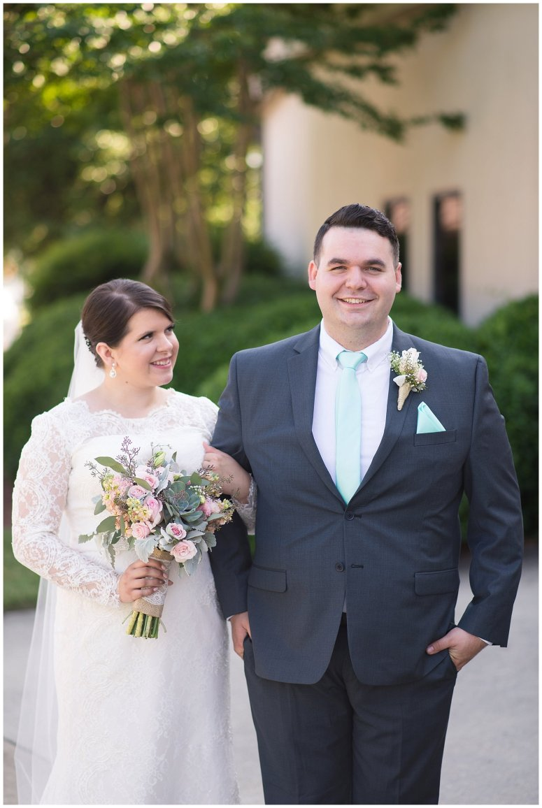Hampton Virginia Wedding Photographer Pale Pink Blue Succulents Beautiful Virginia Wedding_1274
