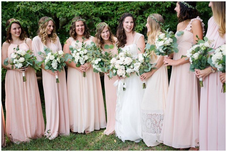 Beautiful Blush Pink Cream Green Wedding Charlotte North Carolina Virginia Wedding Photographers_1711