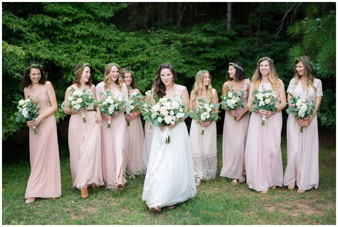Beautiful Blush Pink Cream Green Wedding Charlotte North Carolina Virginia Wedding Photographers_1713