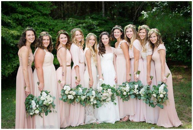 Beautiful Blush Pink Cream Green Wedding Charlotte North Carolina Virginia Wedding Photographers_1719