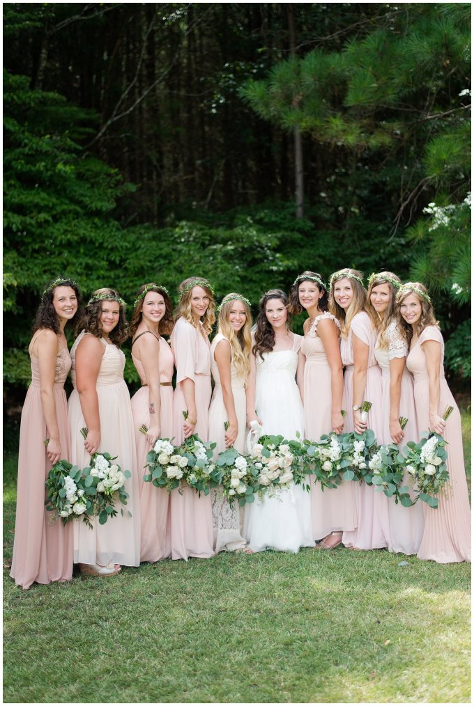 Beautiful Blush Pink Cream Green Wedding Charlotte North Carolina Virginia Wedding Photographers_1720