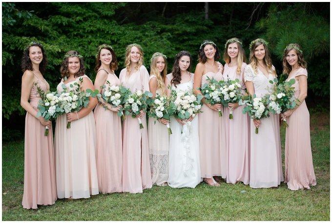 Beautiful Blush Pink Cream Green Wedding Charlotte North Carolina Virginia Wedding Photographers_1725