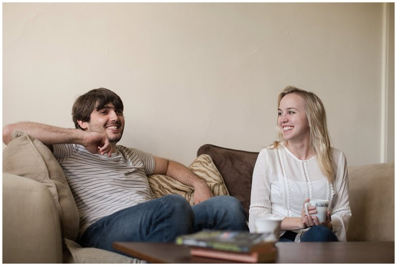 Downtown Norfolk Cozy In Home Engagement Session Virginia Wedding Photographers_4570