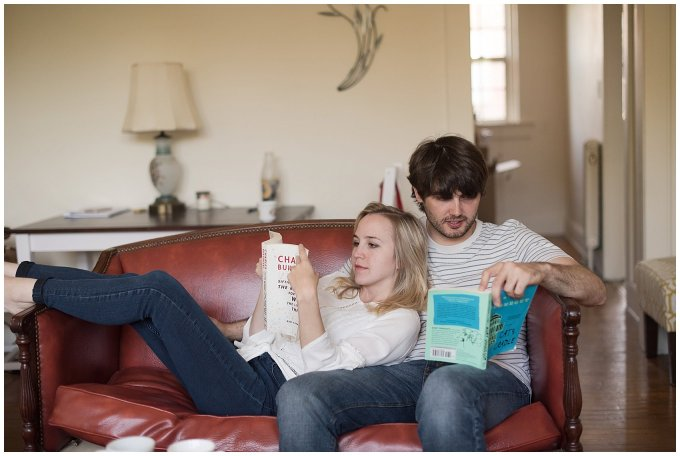 Downtown Norfolk Cozy In Home Engagement Session Virginia Wedding Photographers_4594