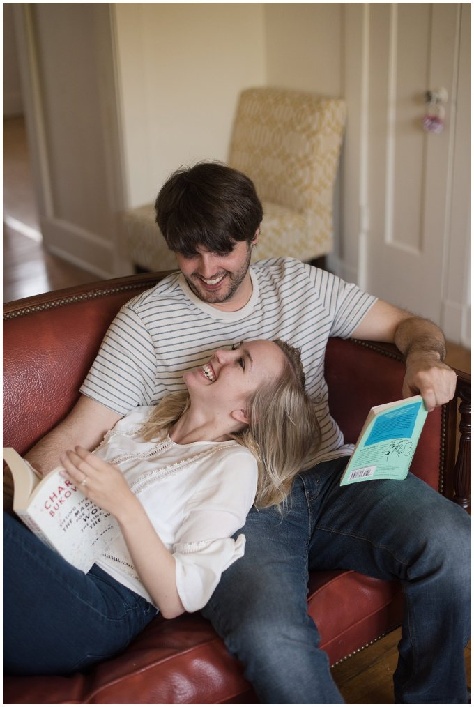 Downtown Norfolk Cozy In Home Engagement Session Virginia Wedding Photographers_4596
