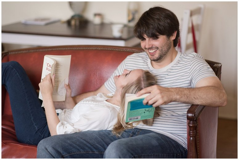 Downtown Norfolk Cozy In Home Engagement Session Virginia Wedding Photographers_4598