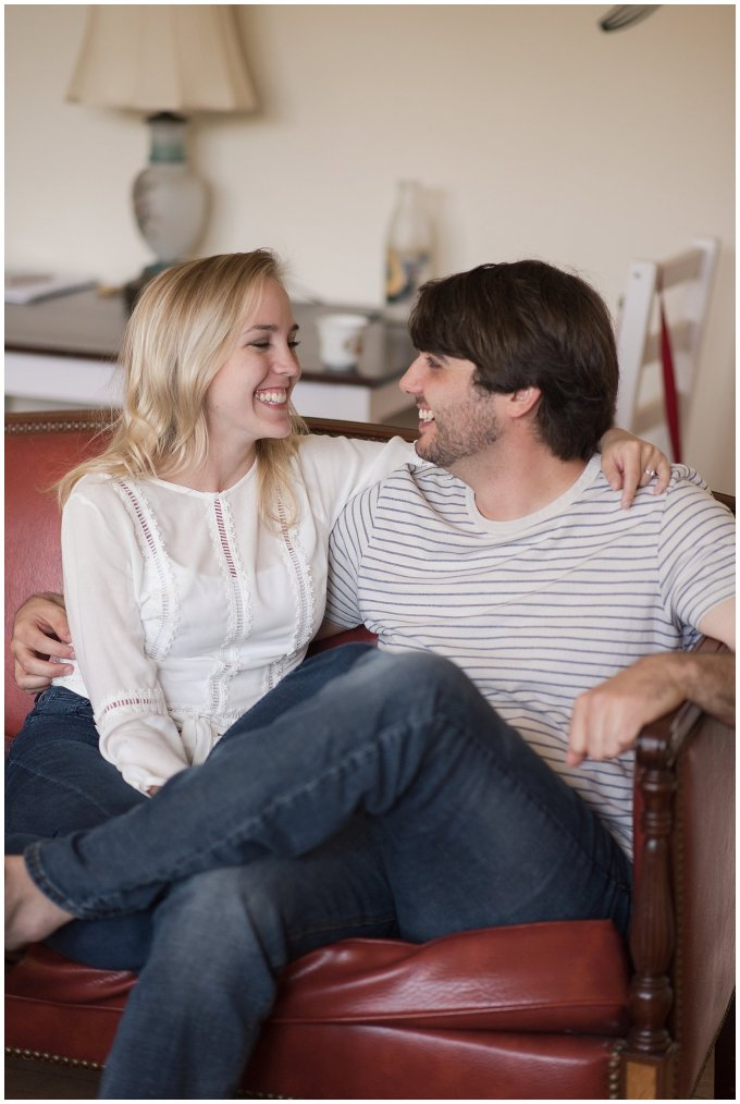 Downtown Norfolk Cozy In Home Engagement Session Virginia Wedding Photographers_4607