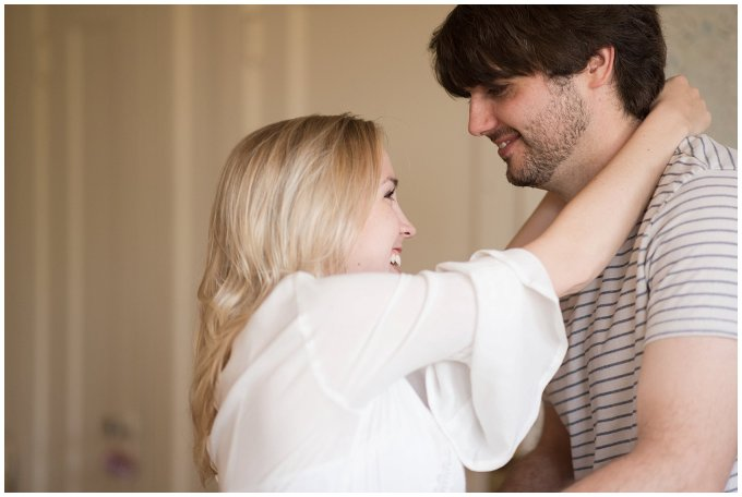 Downtown Norfolk Cozy In Home Engagement Session Virginia Wedding Photographers_4624