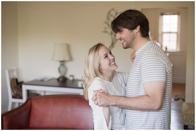 Downtown Norfolk Cozy In Home Engagement Session Virginia Wedding Photographers_4629