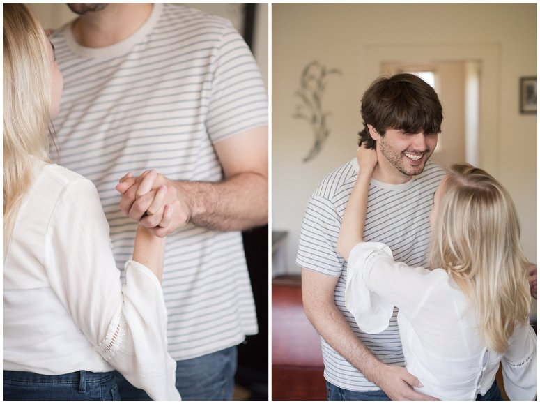 Downtown Norfolk Cozy In Home Engagement Session Virginia Wedding Photographers_4630