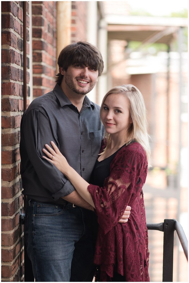 Downtown Norfolk Cozy In Home Engagement Session Virginia Wedding Photographers_4641