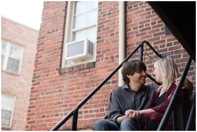 Downtown Norfolk Cozy In Home Engagement Session Virginia Wedding Photographers_4645