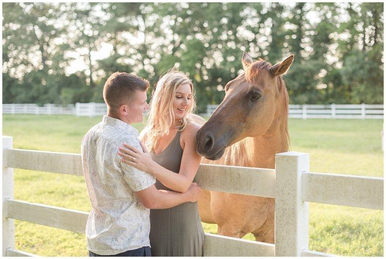 Golden Summer Engagement Session Back Bay Horse Farm Virginia Wedding Photographers_5493