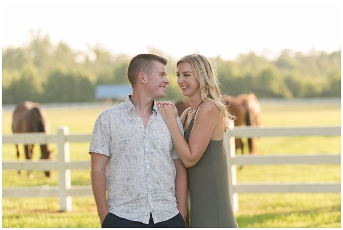 Golden Summer Engagement Session Back Bay Horse Farm Virginia Wedding Photographers_5514