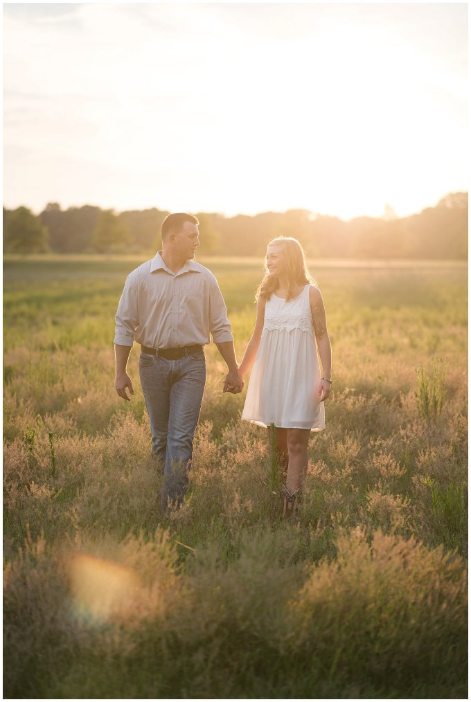 Golden Summer Engagement Session Windsor Castle Park Smith Field Virginia Wedding Photographers_5445