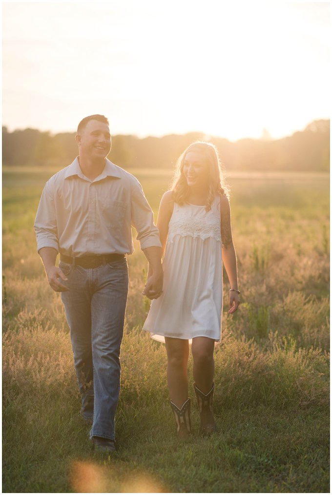 Golden Summer Engagement Session Windsor Castle Park Smith Field Virginia Wedding Photographers_5446