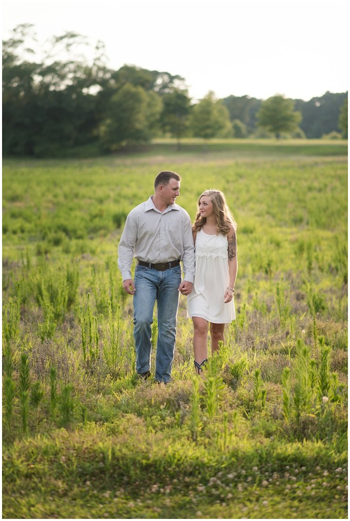 Golden Summer Engagement Session Windsor Castle Park Smith Field Virginia Wedding Photographers_5457