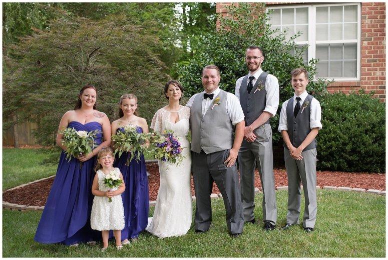 Purple and Green Quaint Backyard Wedding Virginia Beach Wedding Photographers_5330