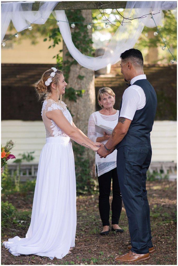 Intimate Simple Beautiful Backyard Virginia Beach Wedding Photographers_5692