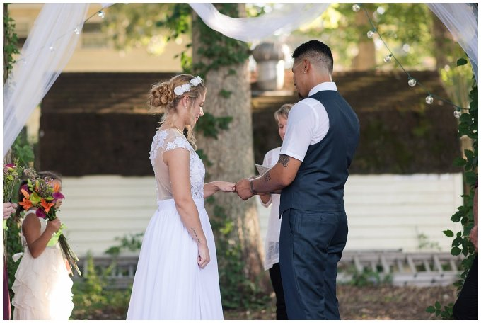 Intimate Simple Beautiful Backyard Virginia Beach Wedding Photographers_5695