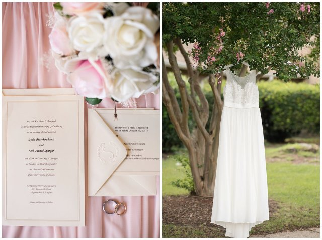 Blush Pink Summer Virginia Beach Wedding Regent University Founders Inn Bride and Groom Wedding Photographers_6025