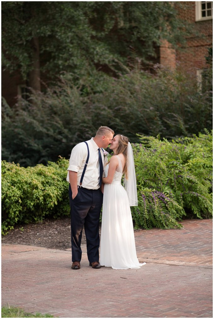 Blush Pink Summer Virginia Beach Wedding Regent University Founders Inn Bride and Groom Wedding Photographers_6126
