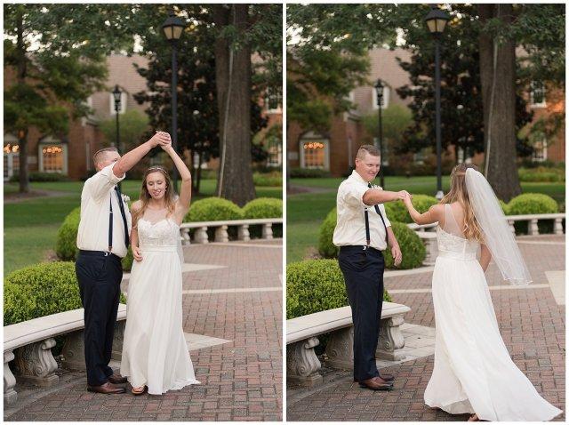 Blush Pink Summer Virginia Beach Wedding Regent University Founders Inn Bride and Groom Wedding Photographers_6133