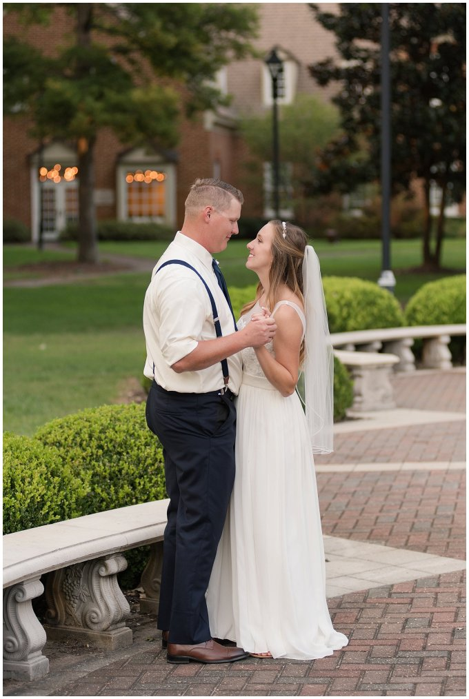 Blush Pink Summer Virginia Beach Wedding Regent University Founders Inn Bride and Groom Wedding Photographers_6134
