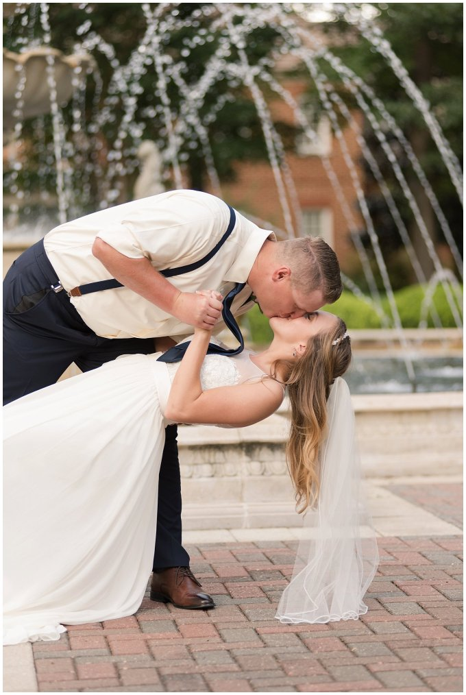 Blush Pink Summer Virginia Beach Wedding Regent University Founders Inn Bride and Groom Wedding Photographers_6137