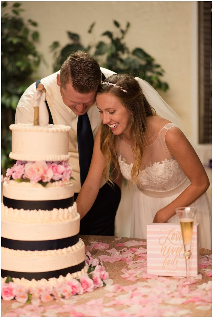 Blush Pink Summer Virginia Beach Wedding Regent University Founders Inn Bride and Groom Wedding Photographers_6170
